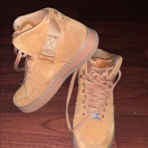 Brown High tip Air Force 1's